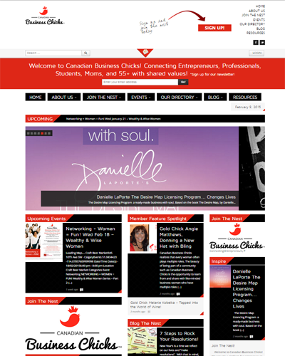 canadianbusinesschicks web design